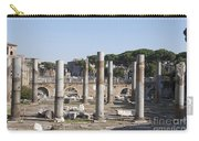 Base Of Trajan's Column And The Basilica Ulpia. Rome Carry-all Pouch