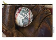 Baseball Mitt With Earth Baseball Carry-all Pouch