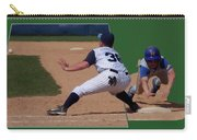 Baseball Pick Off Attempt 02 Carry-all Pouch by Thomas Woolworth