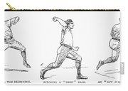 Baseball Pitching, 1889 Carry-all Pouch