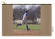 Baseball Step And Throw From Third Base Carry-all Pouch