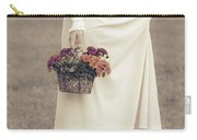 Basket With Flowers Carry-all Pouch