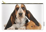 Basset Hound And Guinea Pig Carry-all Pouch