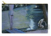 Bather About To Plunge Into The River Yerres Carry-all Pouch