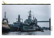 Battleship At Tower Bridge Carry-all Pouch