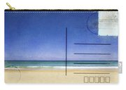 Beach And Blue Sky On Postcard  Carry-all Pouch by Setsiri Silapasuwanchai