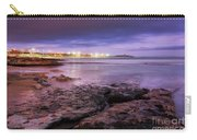 Beach At Dusk Carry-all Pouch by Carlos Caetano