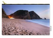 Beach At Evening Carry-all Pouch by Carlos Caetano