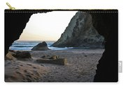 Beach Cave At Bandon Oregon Carry-all Pouch
