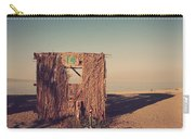 Beach Hut Number Fourteen Carry-all Pouch by Laurie Search