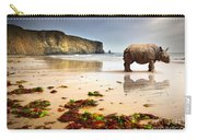 Beach Rhino Carry-all Pouch by Carlos Caetano