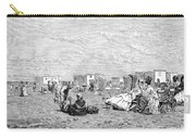 Beach Scene, 19th Century Carry-all Pouch