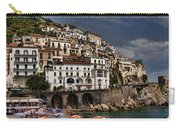 Beach Scene In Amalfi On The Amalfi Coast In Italy Carry-all Pouch