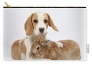 Beagle Pup And Rabbit Carry-all Pouch