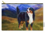 Bear - Bernese Mountain Dog Carry-all Pouch by Michelle Wrighton