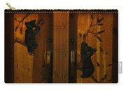 Bear Doors Carved Carry-all Pouch