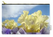 Bearded Iris Flowers Art Prints Floral Irises Carry-all Pouch