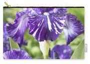 Bearded Iris Iris Germanica Batik Carry-all Pouch