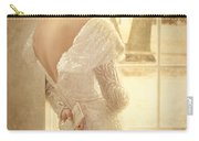 Beautiful Lady In Sequin Gown Looking Out Window Carry-all Pouch