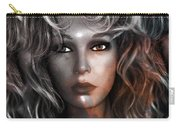 Surreal Female Fashion Mannequin Portrait Art Deco Carry-all Pouch