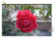 Beautiful Red Rose In A Small Garden Carry-all Pouch
