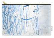 Beautiful Sea Woman Watercolor Painting Carry-all Pouch by Georgeta  Blanaru