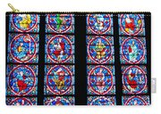 Beautiful Stained Glass At Notre Dame Cathedral Carry-all Pouch