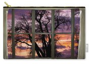 Beautiful Sunset Bay Window View Carry-all Pouch