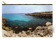 Beautiful View On Mediterranean Sea Cape Gkreko In Cyprus Carry-all Pouch