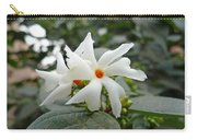 Beautiful White Flower With Orange Center Carry-all Pouch
