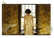 Beautiful Woman In Lace Gown In Abandoned Room Carry-all Pouch