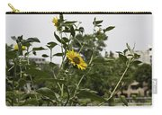 Beautiful Yellow Flower In A Garden Carry-all Pouch