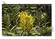 Beautiful Yellow Flowers Inside The National Orchid Garden In Singapore Carry-all Pouch