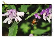 Bee In Flight Carry-all Pouch by Kaye Menner