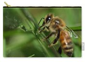 Bee In Green Carry-all Pouch