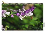 Bee On Flower Carry-all Pouch by Kaye Menner