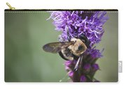 Bee On Gayfeather Squared 1 Carry-all Pouch