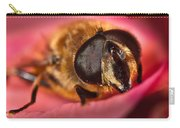 Bee On Rose Petal Carry-all Pouch
