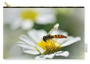 Bee With Rainbow Wings Carry-all Pouch