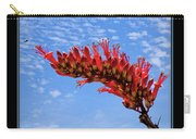 Bee With Red Flower 1 Carry-all Pouch