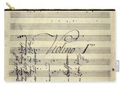Beethoven Manuscript, 1799 Carry-all Pouch by Granger