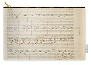 Beethoven Manuscript, 1806 Carry-all Pouch by Granger