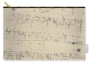 Beethoven Manuscript, 1826 Carry-all Pouch by Granger