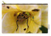 Beetle In Yellow Flower Carry-all Pouch