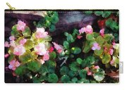 Begonias By Stone Wall Carry-all Pouch