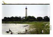 Behind The Cape May Lighthouse Carry-all Pouch by Bill Cannon