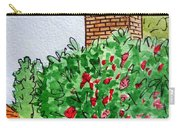 Behind The Fence Sketchbook Project Down My Street Carry-all Pouch by Irina Sztukowski