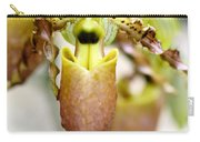 Beige Lady Slipper Orchids Carry-all Pouch