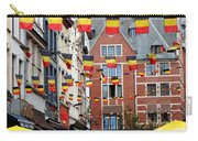 Belgian Flags In Brussels Carry-all Pouch by Carol Groenen