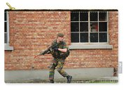Belgian Infantrists Under Attack Carry-all Pouch by Luc De Jaeger